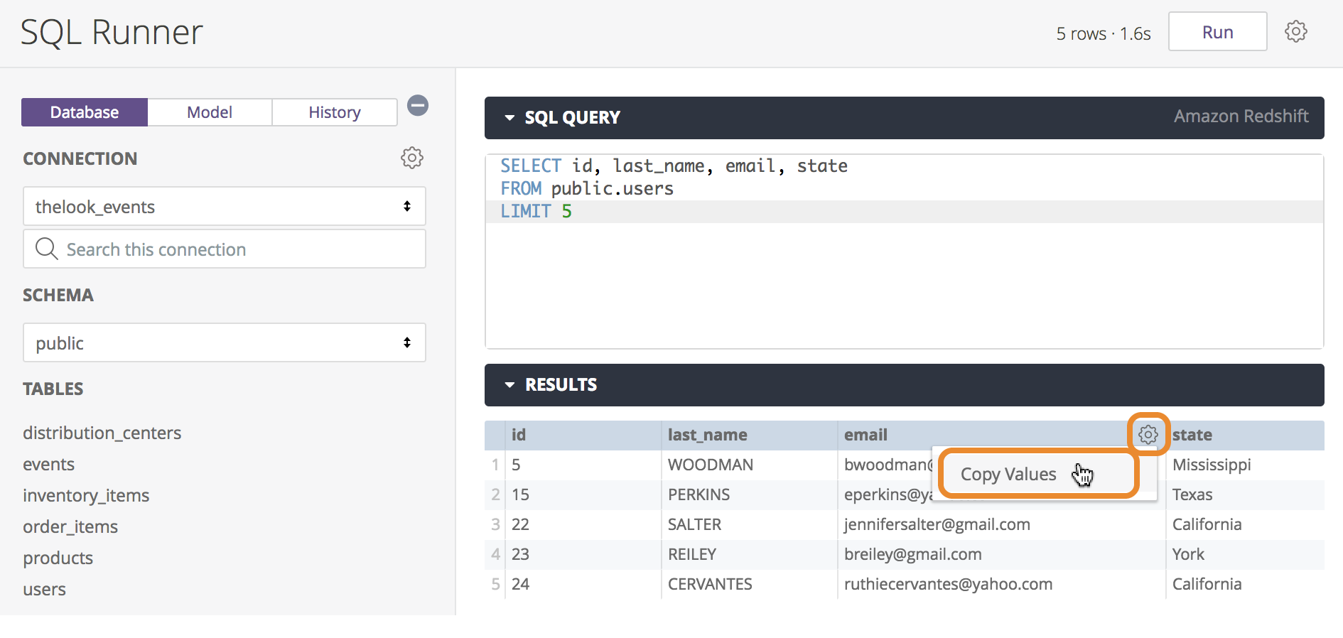 Using SQL Runner to Create Queries and Explores