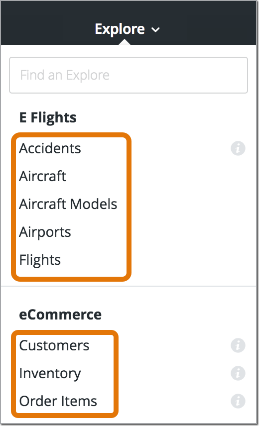 Within An Explore Your Users Can Use The Field Picker To Select Fields Dimensioneasures They Want Query Their Data